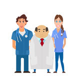 Medical team. Group of hospital workers vector Royalty Free Stock Photography
