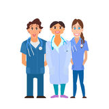 Medical team. Group of hospital workers vector Stock Photography