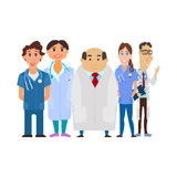 Medical team. Group of hospital workers vector Stock Images