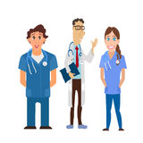 Medical team. Group of hospital workers vector Royalty Free Stock Images