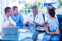 Medical team having a meeting Stock Images