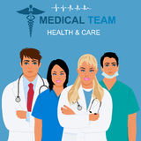 Medical team and health care concept, vector illustration Royalty Free Stock Photography