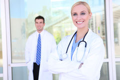 Medical Team at Hospital Royalty Free Stock Photos