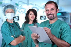 Medical team in a hospital Royalty Free Stock Photo