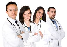 Medical team with male and female doctors Stock Images