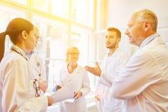 Medical team in meeting. Doctors and nurses as medical team in meeting stock photos