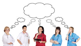 Medical team with pensive face Stock Photos