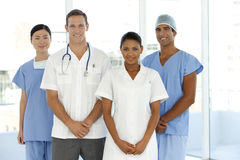 Medical team. Portrait of a multi-ethnic medical team Stock Photos