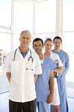 Medical team. Portrait of a medical team with senior leader Royalty Free Stock Images