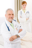 Medical team - portrait two doctor hospital Royalty Free Stock Images