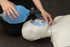 Medical team resuscitate a patient in a hospital Royalty Free Stock Photo