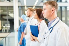 Medical team with senior physician and nurse royalty free stock photo