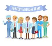 Medical team. Set of hospital medical staff. Doctors, nurses Stock Image
