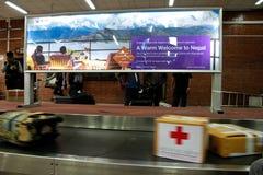 Medical team from Thailand fly from Bangkok to Kathmandu to admi Royalty Free Stock Photos