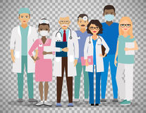 Medical team on transparent background. Medical team. Group of hospital workers vector illustration isolated on transparent background Royalty Free Stock Images