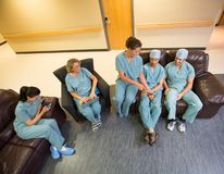 Medical Team Using Technologies In Hospital's Stock Photography