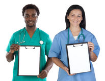 Medical team whit clipboard Stock Photo