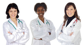 Medical team of woman Royalty Free Stock Photos