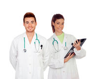 Medical team of young doctors Royalty Free Stock Photo