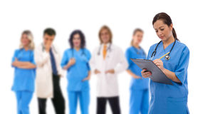 Medical teamwork. Concept with a team of doctors Royalty Free Stock Photo