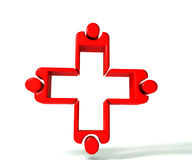 Medical teamwork 3 D image logo Royalty Free Stock Photos