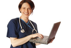 Medical tech. Doctor with laptop