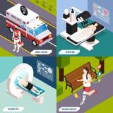 Medical Technologies Isometric Concept stock illustration