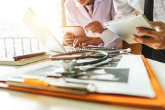 Medical technology concept. Doctor working royalty free stock images