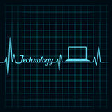 Medical technology concept -heartbeat laptop icon Stock Image
