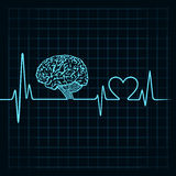 Medical technology concept, heartbeat make a laptop Stock Photography