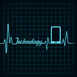 Medical technology concept -heartbeat smartphone icon Royalty Free Stock Photos