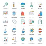 medical and technology Line and color fill editable Vector Icons stock illustration