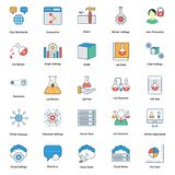 Medical and technology Line and color fill editable Vector Icons. Nmedical and technology Line and color fill editable Vector Icons n vector illustration