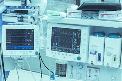 Medical technology monitors Stock Photo