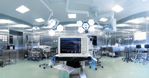 Medical technology in surgery. Panorama Stock Image
