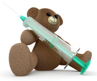 Syringe Teddy Stock Photo