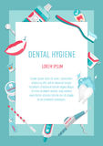 Medical teeth hygiene infographic leaflet Stock Images