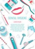 Medical teeth hygiene leaflet A4 Stock Photo