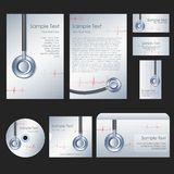 Medical Template. Illustration of set of stationery for medical Stock Photos