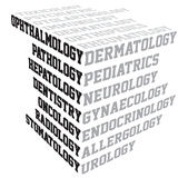 Medical terms typography Royalty Free Stock Photos