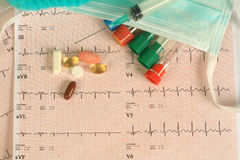 Medical Test. Ing and analysis report heart Stock Photo