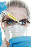 Medical Test. Medical worker conducting a routine medical test Stock Photo