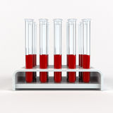 Medical test-tube with blood samples Stock Photography