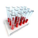 Medical test-tube with blood samples Stock Image
