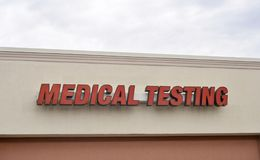 Medical Testing. A medical testing facility test for blood borne pathogens such as HIV, Aids, STD, tuberculosis, influenza, pneumonia, common cold and other royalty free stock photo