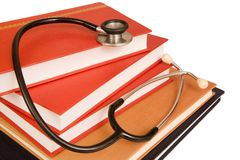 Medical text books Stock Images