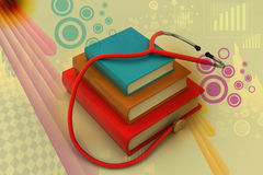 Medical text books Stock Image