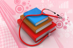 Medical text books Royalty Free Stock Photo