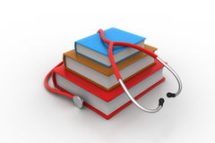 Medical text books. In white background Royalty Free Illustration