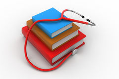 Medical text books. In white color background Royalty Free Stock Images